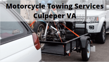 Motorcycle Towing Services Culpeper VA